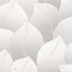Tapet Scandinavia m Grå Bladverk Non-woven Pastry Blender, Glass Baking Dish, Pin Collection, Wall Decor, Interior Design, Wallpaper, Blogg, Collections, Nature