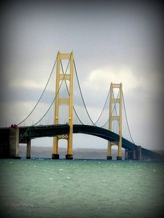 Mackinac Island Bridge MI. #puremichigan