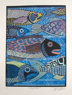Buy Big Blue, linocut reduction, Linocut by Mariann Johansen-Ellis on Artfinder. Discover thousands of other original paintings, prints, sculptures and photography from independent artists.