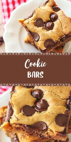 """Soft and delicious Cookie Bars aka """"Pan Chewies"""" - this dessert recipe is so good and takes minutes to throw together! Winter Desserts, Desserts For A Crowd, Great Desserts, Best Dessert Recipes, Slow Cooker Desserts, Hot Fudge Cake, Hot Chocolate Fudge, Chocolate Chips, Chocolate Chip Cookie Bars"""