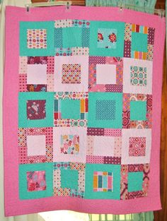 """baby girl quilt by """"dixie_fried"""" from the quiltingboard.com"""