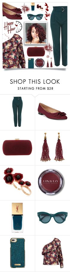 """How to wear One Shoulder Top!"" by disco-mermaid ❤ liked on Polyvore featuring Topshop, ESPRIT, Sergio Rossi, Nocturne, Futuro Remoto, Yves Saint Laurent, Nanette Lepore, W118 by Walter Baker, floralprint and contestentry"
