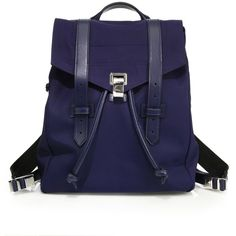 Proenza Schouler PS1 Nylon Backpack (28,930 MXN) ❤ liked on Polyvore featuring bags, backpacks, backpack, apparel & accessories, indigo, nylon drawstring backpack, utility bag, nylon drawstring bags, backpack bags and drawstring backpack bags