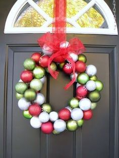use CHEAP balls from dollar store!Did this last year..so easy and soo cute!!!