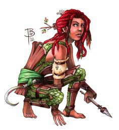 Commission for Wastelandrat. Character is a halfling druid!