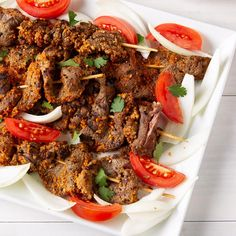 Beef Suya Recipe   Taste of Home Grilling Recipes, Meat Recipes, Food Processor Recipes, Cooking Recipes, Healthy Recipes, Meat Meals, Vegetarian Recipes, Beef Tri Tip, Gastronomia