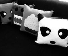 Cartoon cushions pillows decorate for sofa car couch office chair panda cake cushion hugging pillow throw dakimakura ♥ Cute Pillows, Diy Pillows, Cushions, Throw Pillows, Sewing Crafts, Sewing Projects, Diy Projects, Panda Cakes, Kawaii Room