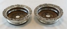 Currently at the #Catawiki auctions: Antique Victorian Pair of Silver Plate Wine Coasters, Circa.1880's