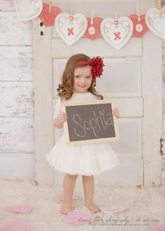 Cute idea for garland and for picture taking!