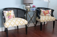 Cane-Back-Chairs. Upholstery tutorial.