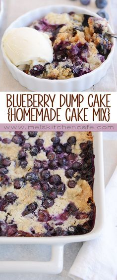 This tried-and-true, easy recipe for blueberry dump cake is made with a simple cake mix, fresh or frozen blueberries, butter, and milk. Minimal effort for a super tasty dessert!