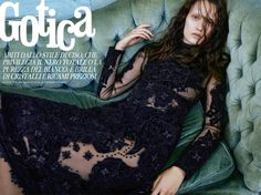 Gothic fashion is back in the spotlight for this editorial featured in a recent issue of Grazia Italy. Model Victoria Anderson poses for Tim Zaragoza of Atelier Management in dreamy and dark looks from the winter collections styled by Caroline Titcumb. From leather trench coats to lace adorned dresses, the designs of Chanel, Alexander McQueen …