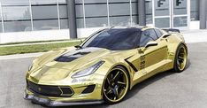 Gold Chevrolet Corvette Stingray
