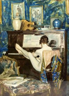 Nude Playing The Piano / Frank Snapp 1876 - 1927