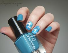 Winter nailart (Cosmetica Fanatica and MILV water decals)