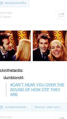 I can't hear you over the sound of how OTP they are :)