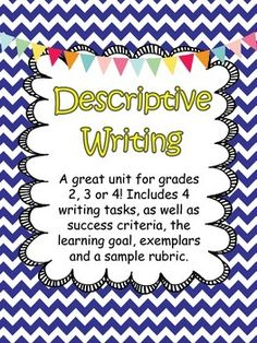 descriptive writing unit writing pinterest writing paragraph