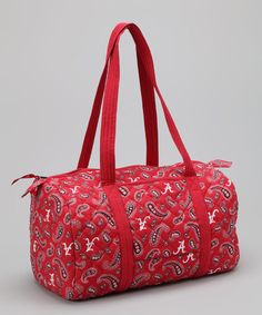 Pomegranate Collegiate Alabama Crimson Tide Paisley Duffel Bag 9a55b02dd7964