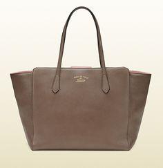 Gucci - gucci swing leather tote