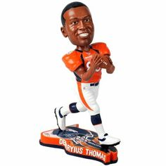 Demaryius Thomas Denver Broncos Pennant Based Player Bobblehead