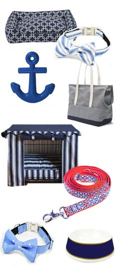 nautical-inspired dog beds, crate covers, carriers/bag, and accessories