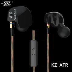 2016 Newest Original KZ ATR 3.5mm In Ear Earphones HIFI Stereo Sport Auricular Super Bass Noise Isolation With Mic Free Shipping