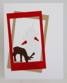 Clean and simple Christmas card using dies and cardstock from Papertrey Ink, and a stamp from North Star Stamps.