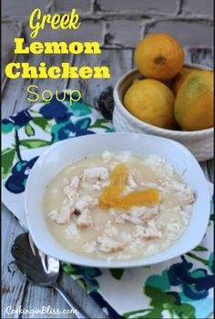 Super delicious Greek Lemon Chicken Soup Recipe