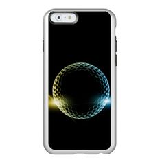 """#Golf Ball in Space Feather Shine iPhone Case #golf phone case @golfers gifts@ golf case"""""""