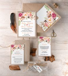 WEDDING INVITATIONS watercolor 06/BHk/z