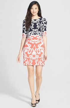 Love this printed shift dress