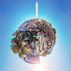 360 View At the Credit Union Cherry Blossom Ten Mile Run Finish Line - Via Yi VR 360 #cherryblossom #cherryblossomfestival #cherryblossomtenmiler #dc #washingtondc #spherical #littleplanet #yivr360 #springishere