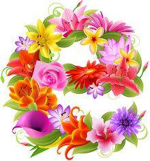 Строчная буква е из цветов