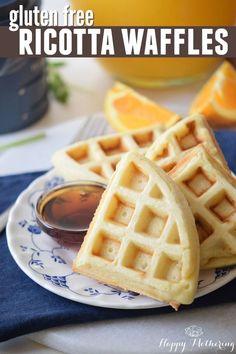 Looking for the best gluten free waffles recipe? These gluten free ricotta waffles with coconut flour will have everyone talking about breakfast for days.