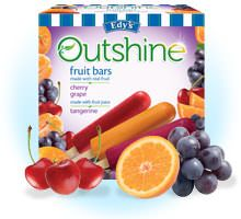 Edy's Outshine Fruit Bars Cherry Grape Tangerine Low calorie (35-45 cals per bar) NO HFCS!!!   these are wonderful popsicles for children too---