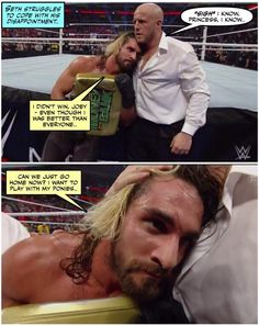Credit JenJ@forever_ambrose - Seth was way better than Cena that's for sure...