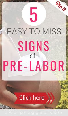 We're on the constant look out for signs of labor in those last weeks and days of pregnancy. These 5 signs are easy to miss, especially in your first pregnancy. Find out what they are here >>> Last Week Of Pregnancy, Pregnancy Labor, Pregnancy Advice, Pregnancy Workout, Signs Of Labour, Early Labor, Stages Of Labor, Pregnant Diet, 35 Weeks Pregnant