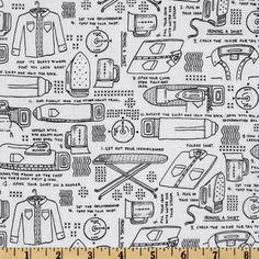 Timeless Treasures Sewing & Knitting Sewing Motifs White