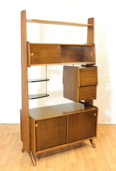 SALE!!!!!!! WOW! Retro Upright Drinks Cabinet/Bar or Room Divider. Mid Century. Vintage. MCM. on Etsy, $1,425.00