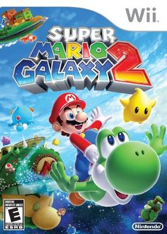 """Your Wholesale Dropship Source - Super Mario Galaxy 2 Wii """"Super Mario Galaxy 2 for Wii. Traveling through the galaxy with his favorite vehicle Yoshi Mario is back jumping running and flying with new puzzles stages and enemies! Playstation 2, Xbox 360, Super Mario World, Super Mario Games, Super Mario Bros, Mario Wii, Hama Mario, Mario Kart, Video Games Xbox"""