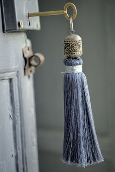 Tassel on a key: Riad Tarabel - Morocco - Modern bohemian decor bohemian interior design bohemian bedroom 07 Passementerie, French Blue, French Country, Country Blue, Country Style, Moroccan Style, Moroccan Design, Moroccan Decor, Pom Poms
