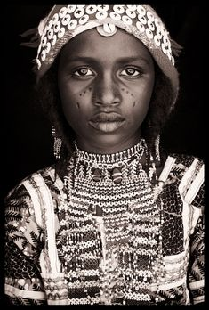 West African Societies. Series of black & white portraits with Wodaabe + Fula in Niger; Tuareg in Mali, Tamberma in Togo, Betammaribe in Benin.
