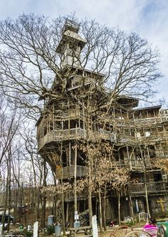 The world's tallest treehouse, located in Crossville, Tennessee, makes the Swiss Family Robinsons look like a bunch of amateurs