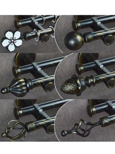 Metal brackets brings more safety wall mount installation. There are many Curtain rod finials for you choose, such as ball finial, cone finial, crystal finial, etc. Finials For Curtain Rods, Curtain Poles, Custom Curtains, Drapes Curtains, Double Curtain Rod Set, Wall Mount, Safety, Crystals, Metal