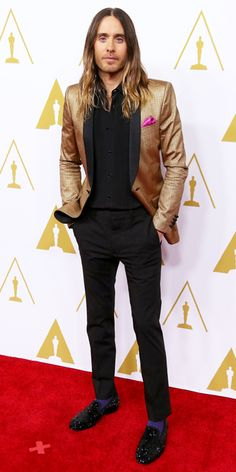 Awards Show Style: Top Red Carpet Looks from the 2014 Oscar Nominees - Jared Leto