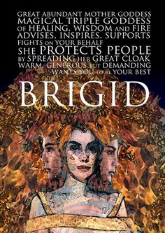 Brigid seems to have been both a pagan goddess and a Christian saint, with a smooth transition over time. As a goddess she was the patron of healing, crafts and poetry. Although venerated all over Ireland, Brigid had special territorial power over Leinste Celtic Goddess, Brighid Goddess, Irish Mythology, Philippine Mythology, St Brigid, Sacred Feminine, Divine Feminine, Mother Goddess, Triple Goddess