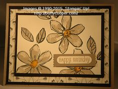 I had so much fun playing with my new Stampin' Up! products! This card is full of new products from the 2015-16 Annual Catalog. First – the stamp set is Garden in Bloom. It's a 2…
