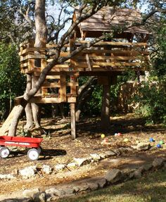 backyard forts and treehouses for kids | ... Designs for Kids, Backyard Ideas to Keep Children Active and Happy
