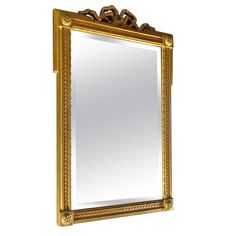 French Mid-Century Small Mirror | From a unique collection of antique and modern wall mirrors at https://www.1stdibs.com/furniture/mirrors/wall-mirrors/