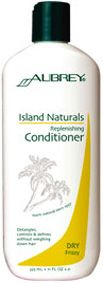 Aubrey Organics Island Naturals Replenishing Conditioner for Dry, Frizzy Hair. Moisture-replenishing & detangler, restoring manageability & sheen. Leaves lengths silky-smooth & softens & defines curls without weighing down the hair. Also recommended for relaxed & natural styles. Hydrate & condition; seal in moisture & soften hair texture. Strengthens hair fibre. Exotic, spicy scent. http://www.theremustbeabetterway.co.uk/aubrey-organics-island-naturals-replenishing-conditioner.html